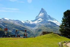 Playground with the world's best view in Zermatt