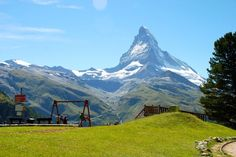 Playground with the world's best view in Zermatt