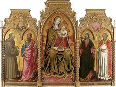 Taddeo di Bartolo - Vergine e Bambino tra i santi Gérardo, Paolo, Andrea e Nicola - circa 1395 - Musée des Beaux-Arts de Grenoble
