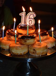 Sweet 16 Bonfire Birthday Party Ideas | Photo 3 of 26 | Catch My Party Donuts are the new cake :)