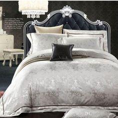 European Style White Jacquard Silk/Cotton Bedding Sets Queen King Size 4/Noble Satin Bedclothes Duvet Cover Bed Linen Set Home Textile Modern Duvet Pretty Duvet Covers From Whq1981, $106.74| Dhgate.Com