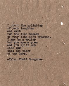 I am a writer, & you, my poem.