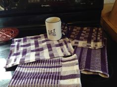 Block weave study in purple.