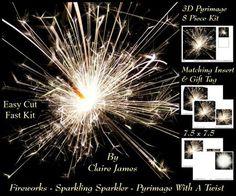 Fireworks Sparkling Sparkler Pyrimage With A Twist Tag  on Craftsuprint - Add To Basket!