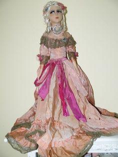 Superb Cloth French Boudoir Doll Rosalinde Body
