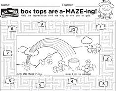 MOD remake of the St. Box Top Collection Sheets, Dotted Page, School Fundraisers, Box Tops, Too Cool For School, School Spirit, Teaching Tips, School Days, Fundraising
