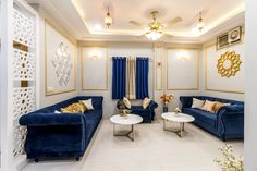 Indian living room design in blue white and gold – Hannah Abygail – Indian livin… Indian living room design in blue white and gold – Hannah Abygail – Indian living room design in blue white and gold Indian Living Rooms Ideas for Your Home a New Look – Indian Living Rooms, Living Room White, Living Room Paint, Small Living Rooms, Living Room Modern, Living Room Interior, Living Room Designs, Room Swing, Living Room Panelling