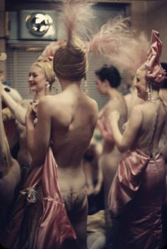 Gordon Parks :: Nightclub Showgirls. Showgirls backstage at the Latin Quarter Nightclub in New York City,1958. (The LIFE Picture Collection/Getty Images)