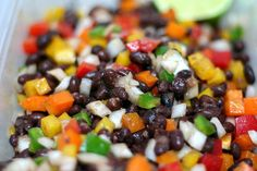 black bean confetti salad (I bet this would be good with avocado in it too.)