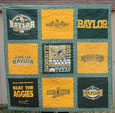 Fun Baylor Quilt...I love the green plaid on this one.