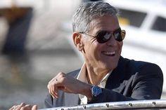 George Clooney lució un reloj OMEGA Seamaster Aqua Terra en Venecia