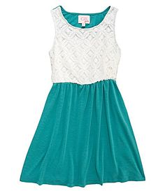 GB Girls 716 LaceBodice Dress #Dillards for Madi! With a Belt :)