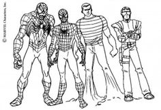 All About Spiderman Coloring Pages