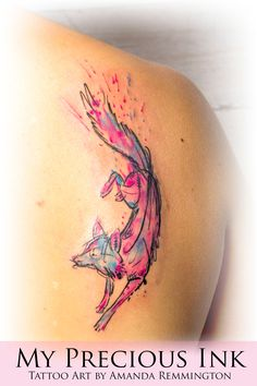 Abstract Fox Tattoo | Watercolor Abstract Fox Tattoo by Mentjuh on DeviantArt