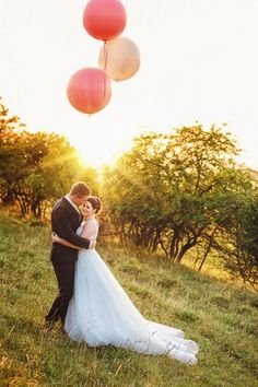 Deko mit Luftballons.