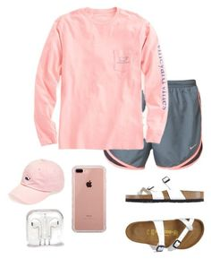 Vineyard vines, birkenstock and belkin fashion cute comfy outfits, birkenst Cute Lazy Outfits, Cute Outfits For School, Teenage Outfits, Teen Fashion Outfits, College Outfits, Outfits For Teens, Trendy Outfits, Casual Sporty Outfits, Fashion Shirts