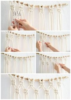 Super Easy Step-by-Step DIY Macrame Wall Hanging Tutorial - with photos and video instructions! Suitable for beginners!