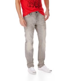 Fav new men's Aero jeans the Bowery Slim Straight Light Wash Gray Jean @ Aeropostale