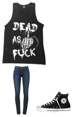 """""""❤️"""" by melodyleighmitchell on Polyvore featuring Frame Denim and Converse"""