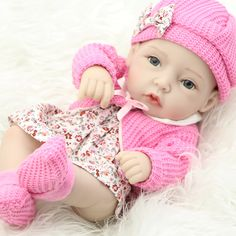 Classic 11 Inch Princess Girl Doll Handmade Full Silicone Vinyl Reborn Baby Dolls With Red Rose Clothes Set Kids Birthday Gift(China (Mainland)) Online Birthday Gifts, Birthday Gifts For Kids, Newborn Baby Dolls, Reborn Babies, Wiedergeborene Babys, Rose Clothing, Reborn Doll Kits, Silicone Baby Dolls, Realistic Baby Dolls