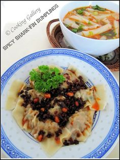 Cooking Gallery: Sharkfin Dumplings with Spicy Rice-Flake Soup
