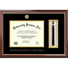 Campus Images NCAA University of Alabama, Birmingham Tassel Box and Diploma Picture Frame