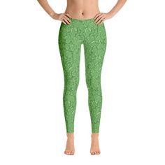 Halloween Zombie Guts Green Leggings