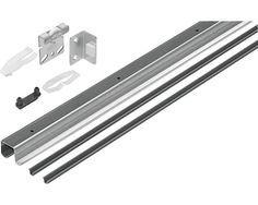 Schiebetür-Komplettset TopLine 27 für zwei Schiebetüren, 2000 mm, braun