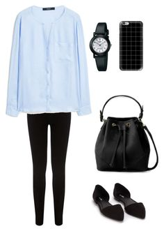 """casual"" by inggar on Polyvore featuring Oasis, MANGO, Nly Shoes, Casio and Casetify"
