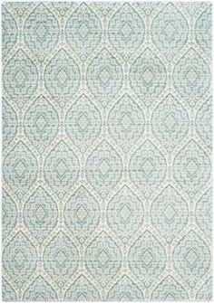 Rug from Valencia collection. Transitional decor makes a trendsetting step forward in fashion-now colors and soft textures of this alpine blue & white watercolor area rug by Safavieh. Valencia, Area Rug Sets, Transitional Area Rugs, Area Rug Runners, Runner Rugs, Cream Area Rug, Cream Rugs, Entry Rug, Power Loom