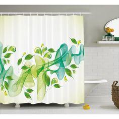 Latitude Run Begley Abstract Floral Decor Shower Curtain
