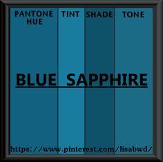PANTONE SEASONAL COLOR SWATCH BLUE SAPPHIRE Teal Colors b2fb954a1b7