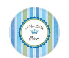 Little Prince Baby Shower Dessert Plates - Party City
