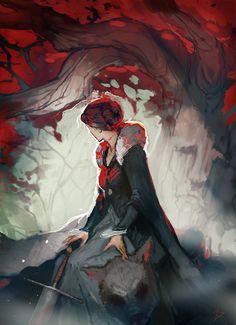 """Godswood Heart"" Catelyn Stark sketch by ceruleanraven"