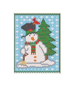 HOLIDAY-SNOWMAN-PONY-BEAD-BANNER-PATTERN-ONLY