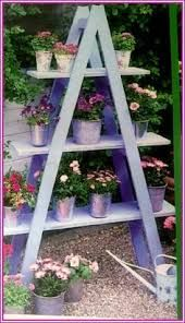 Image result for step ladder planter projects