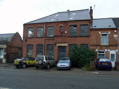 Empty factory of J.Harris and Co. Boot Manufacturers 1896, Factory Road, Hinckley as photographed in 2007. Since converted to living accommodation.