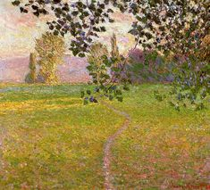 Claude Monet - Morning landscape, Giverny (Also known as Landscape in the morning) (1888)