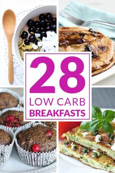 Having a healthy breakfast is easy when you have these 28 absolutely delicious low carb breakfast recipes! Pin it now to try them later! www.tasteaholics.com