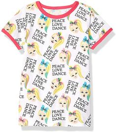 JoJo Siwa Girls Peace Love Dance All Over Print Ringer Tee Short Sleeve T-Shirt - White: Amazon.com.au: Fashion Love Dance, Presents For Girls, Jojo Siwa, Ringer Tee, Pink Love, Girls 4, Cute Shirts, Peace And Love, Style Inspiration