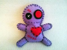 Voodoo Valentine Doll, made in felt: https://www.facebook.com/feltrostore