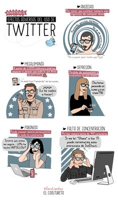 Advertencia: efectos adversos de Twitter #RedesSociales #socialmedia #humor