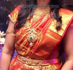 Jewellery Designs: Pretty Lady Mango Haram with Jhumka Locket