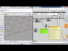 How to create planar Honeycomb Shells using Kangaroo´s Planarization Forces - YouTube