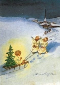 angels / Christmas Card Art - Postcard - Posters