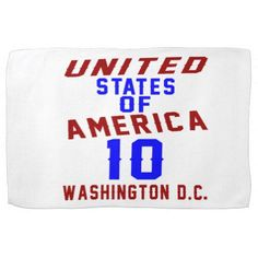 #United States Of America 10 Washington D.C. Towel - #giftidea #gift #present #idea #10th #tenth #bday #birthday #10thbirthday #party #teen