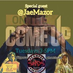 TUESDAY 5/23 LIVE #OnTheComeUp w/  @strickly_sp & @djgazm has @jaemazor stopping by to drop off some new tunes GET THE #SNDSradio APP & CATCH US 5/16 TUNE IN Stamped N Da Streetz Radio: WKKU-DB Online licensed radio who pays out royalties through BMI ASCAP Sound Exchange & more. We are available 24/7 365 days with it! Available on stampedndastreetzdjs.com app South Florida's #1 online licensed radio station! Follow us via Instagram & Twitter @SNDSRadio Get familiar with the best #DanceHall…