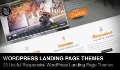 In this post we will show 20 useful responsive WordPress landing page themes of 2013 with you. I've written before about Landing Page Templates Collection (HTML5 version) in this post. If you are looking HTML version of landing pages, don't...