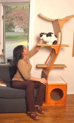 Lotus Cat Tree -- Sleek and Modern Cat Furniture | SuperCoolPets.com - Super Cool Pets
