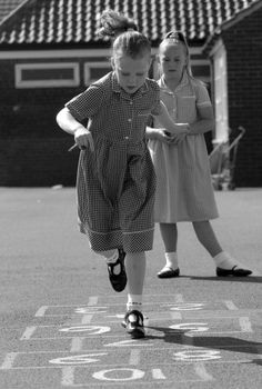 +~+~ Vintage Photograph ~+~+  Hopscotch